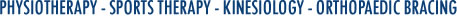 Physiotherapy – Sports Therapy – Kinesiology – Orthopaedic Bracing